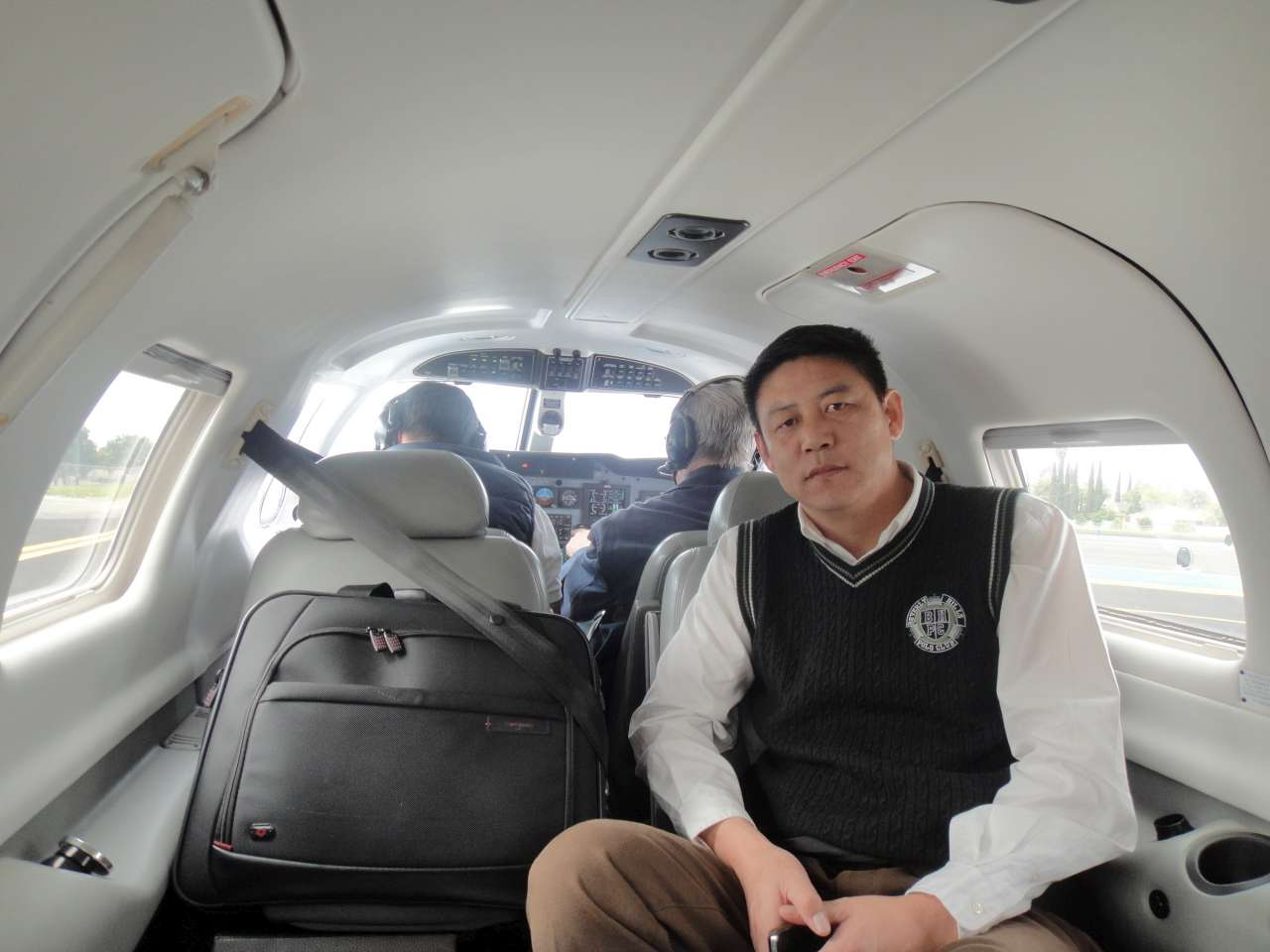 Leo Lee take our guests to experience flight in a Piper Malibu