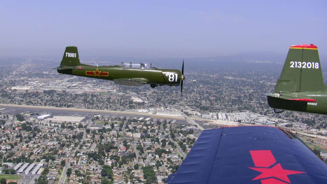 Tiger 2 over El Monte