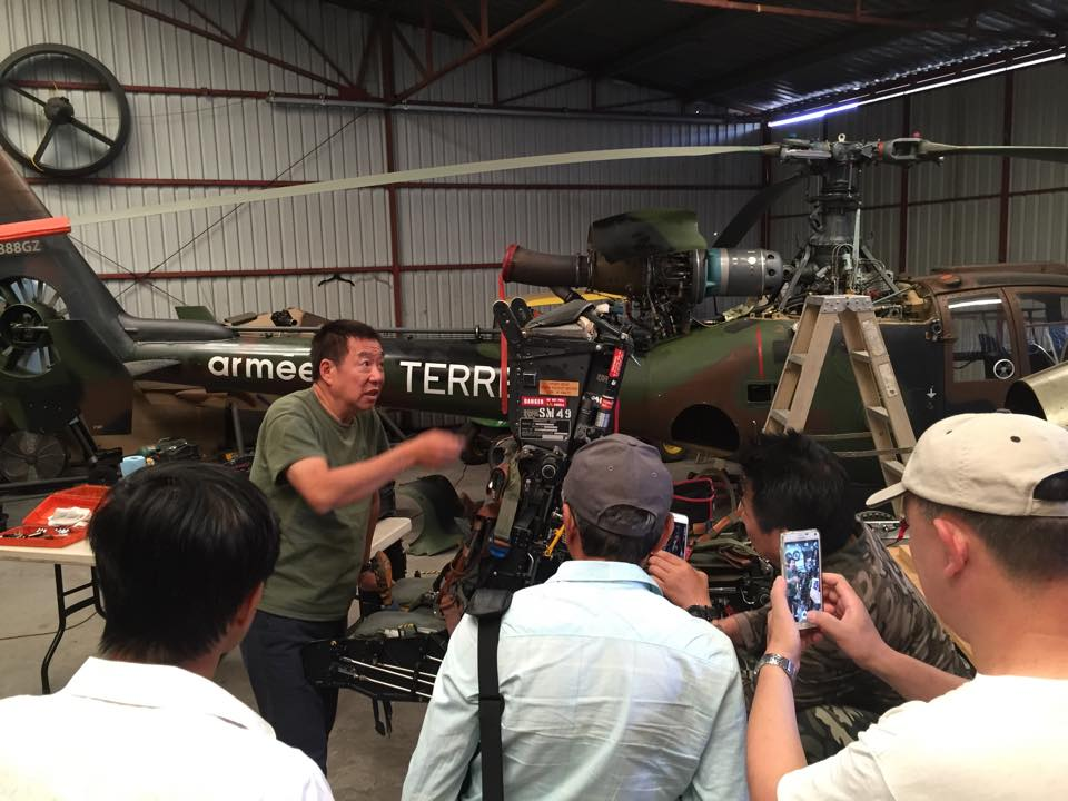 French Army Gazelle Helicopter and Jeffrey explains two Martin Baker ejection seats