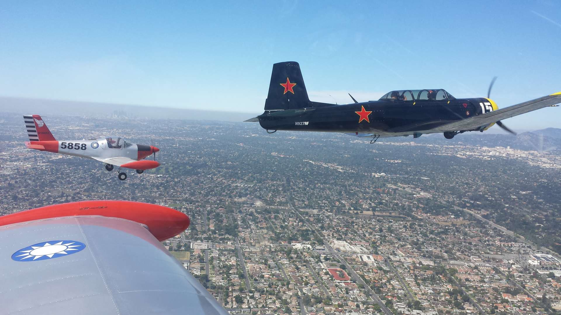 Formation over Pasadena
