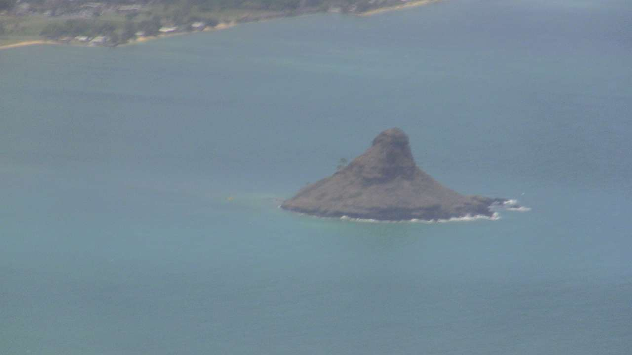 Chinese Hat island over Oahu