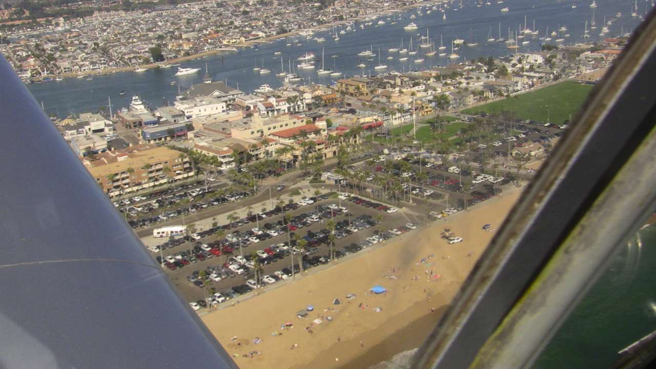 New port beach from the air