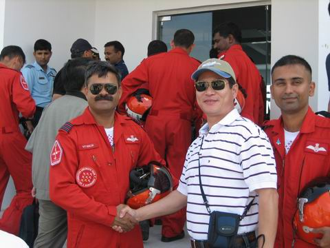 With a indian pilot