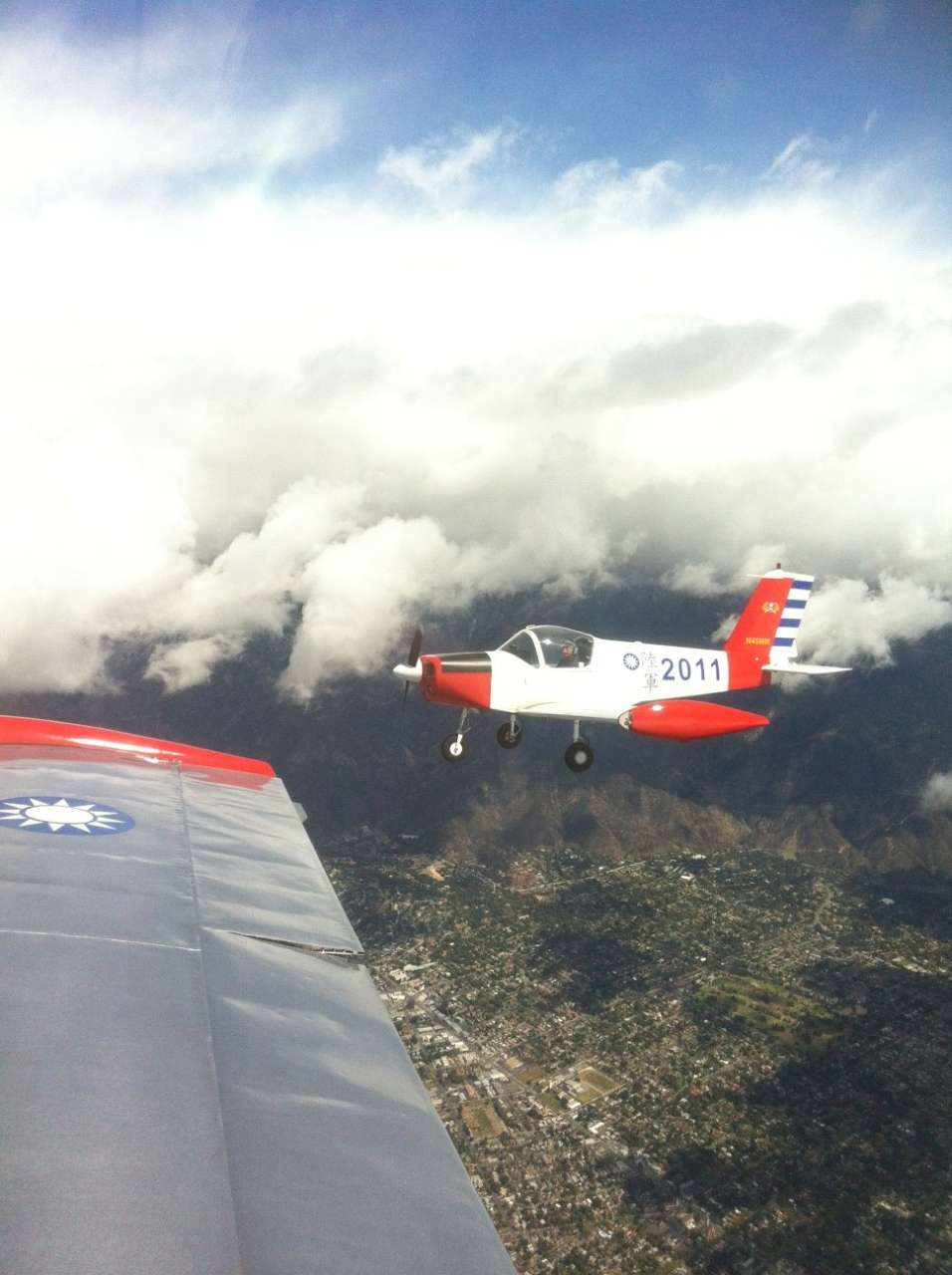 With Jeffrey flying his PL-2 over Pasadena ...