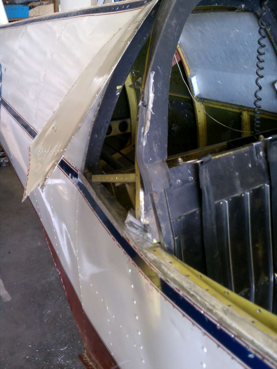 Right longeron rear cabin corner after disassembly